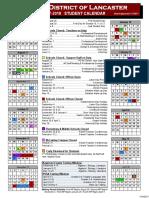 1718 student calendar