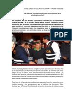 A Propósito Del Caso de Ollanta Humala y Nadine Heredia