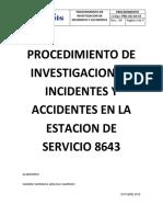 Procedimiento de Investigacion de Incidentes y Accidentes