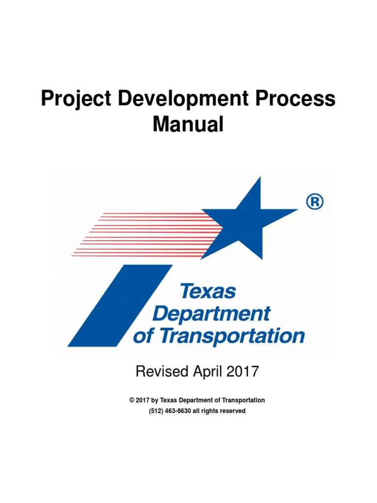 txdot pdp project management road transport rh scribd com