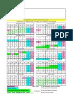 Calendario Escolar 2008-09