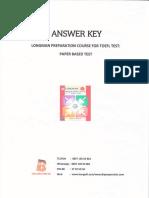 Answer Key Longman Preparation  Course For TOEFL Test