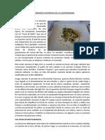 Antecedentes Históricos de La Gastronomía