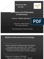 The History and Philosophy of Astronomy Lecture 7