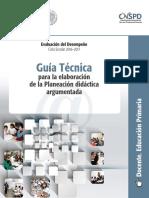 GUIA TÉCNICA PARA LA ELABORACIÓN DE LA PLANEACIÓN DIDÁCTICA ARGUMENTADA - DOCENTE PRIMARIA.pdf