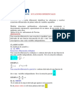 Ecuaciones diferenciales. Definiciones