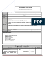 Plan de Evaluacion Matematicas 1B Bloque 1