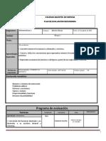 Plan de Evaluacion Matematicas 1A Bloque 1