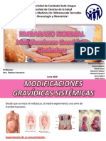 Embarazo Normal - Modificaciones Gravidicas Sistemicas