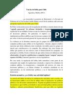 Resumen Agostini y Brieba 2013
