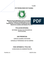 Manual de Procedimientos Para El Programa de Servicio Social y Prácticas Profesionales en El Instituto de Capacitación y Formación Profesional de La Procuraduría General de Justicia Del Estado (P.G.J.E). (2)