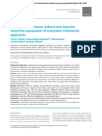 A comparision between indirect and objetive wear-time assessment of removable orthodontic appliances