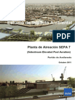 Planta de Aireación SEPA 7  (Sidestream Elevated Pool Aeration)  Partido de Avellaneda