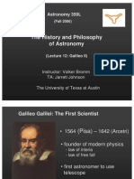 The History and Philosophy of Astronomy Lecture 12