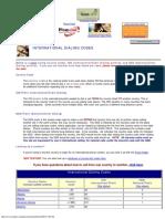 Codes - International Copy Dialing.txt