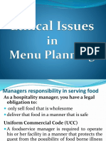 Ethical Issuesin Menu Planning