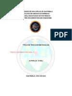 USAC CCEE EEP Formato TESIS MAF 2015 Indice Automatico