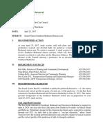 Redmond - Light Rail Agenda Memo