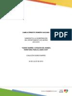 Nariño Programa de Gobierno Camilo Ernesto Romero Galeano 1