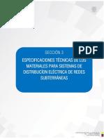 Redes de Distribución Subterráneas Especificaciones Técnicas