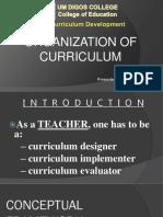 Horizontal and Vertical Organization of a Curriculum