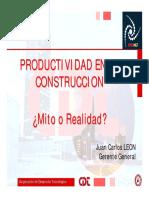 INCONET Productividad en La Construccion Mzo2011