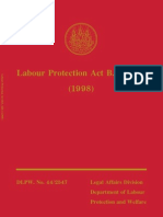 Labour Protection Act - 1998 - English