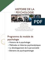 Histoire de La Psychologie1