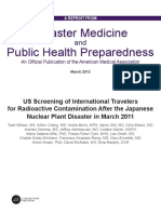 US Screening of International Travelers for Radioactive Contamination After the Japanese Nuclear Plant Disaster in March 2011 Dmphp 2012 Wilson