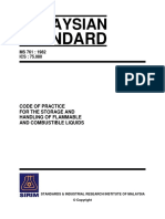 Ms 761 1982 Code of Practice for the Storage and Handling of Flammable and Combustible Liquids Ics 75.080-709618