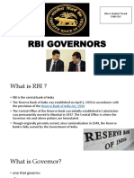 RBI Governors