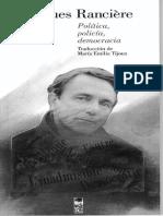 Ranciere Jacques - Politica Policia Democracia.pdf
