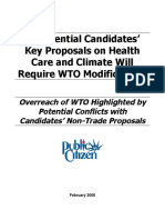 Presidential Candidates' Key Proposals on Health Care and Climate Will Require WTO Modifications