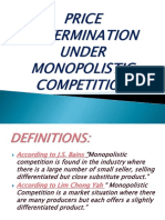 Price Determination Under Monopolistic Competition Poooooo