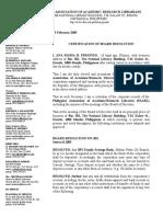 74153186 Secretary s Certification of Board Resolution