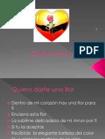Quiero Darte Una Flor Presentación1