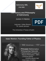 The History and Philosophy of Astronomy Lecture 14