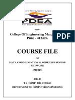 DCWSN Course File