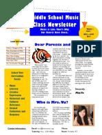 music syllabus newsletter