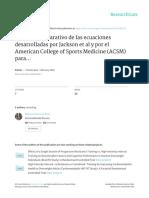 Análisis Comparativo de Las Ecuaciones Desarrolladas Por Jackson Et Al y Por El ACSM American College Sport Medicine Para Predecir El Consumo Máximo de Oxigeno en Estudiantes Universitarios.