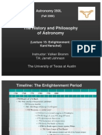 The History and Philosophy of Astronomy Lecture 15