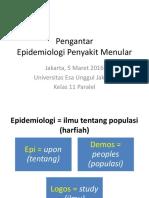 Ade Heryana Pengantar Epidemiologi Penyakit Menular Genap2016