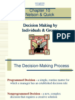 OB-58-OB Ch10-Decision Making by Individuals & Groups