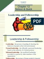 OB 58 OB Ch12 Leadership and Followership