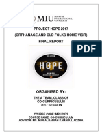 Sample Orphanage Report