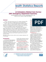 National Hospital Ambulatory Medical Care Survey