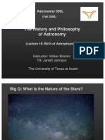 The History and Philosophy of Astronomy Lecture 16