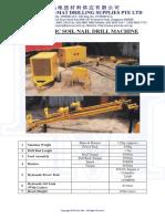 14 Hydraulic Soil Nail Drill Machine