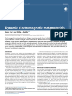 Dynamic Electromagnetic Metamaterials