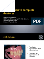 Introduction to Complete Dentures
